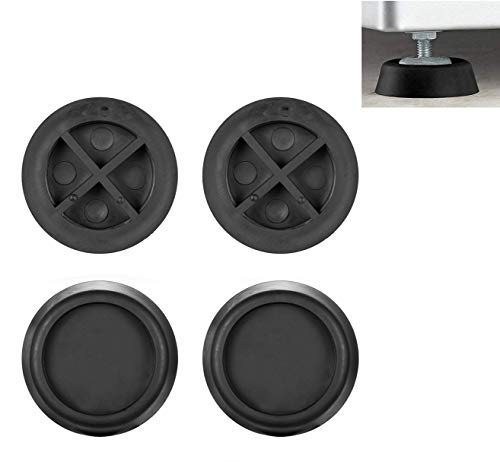 Anti Vibration Pad for Washer and Dryer - Rubber Pad Feet for Washing Machine and Dryer, Universal Fit for Samsung LG Whirlpool Bosch Front Load Washer and Dryer, Heavy Duty Vibration Noise Pad, 4 Pcs ()