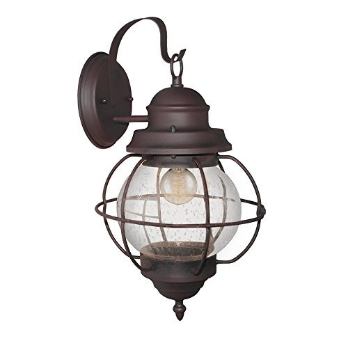 LNC A03195 Sconces 1 Lighting Bronze Lamp Outdoor Wall Lantern, Brown Review