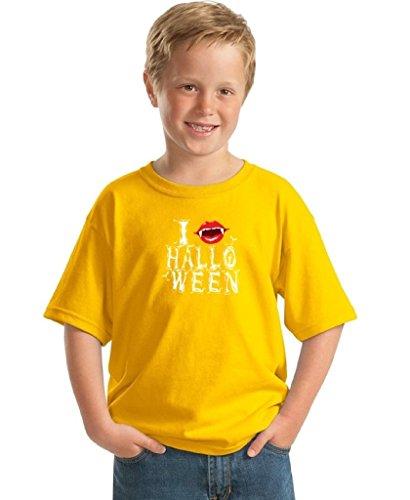 Youth Halloween Shirt Vampire T-shirt I Fangs Halloween Costume for Kids S Yellow