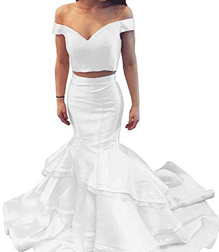 Party Abendmode W Kleid Lange D Damen Brautjungfernkleider Elfenbein Formales Zweiteiliger O Ballkleider Stil Tw8qvOn