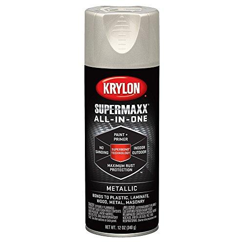 Krylon K08993000 SUPERMAXX All-In-One Spray Paint, Satin Nic