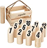 ROPODA Wooden Throwing Game Set, Number Block Tossing Game, Original Game, Outdoor Yard and Lawn Games for Kid