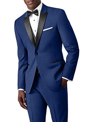 Suit Me costume classique 3 pi¨¨ces hommes 1 bouton pantalon veste blazer veste de smoking de mariage