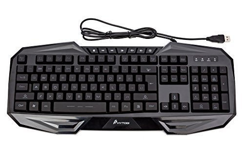 HYTOBI K50 USB Wired Gaming Keyboard with LED Backlighting MEK50-BLU (Black/Blue) (Windows 8 Start Menu Like Windows 7)