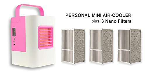 USB Electric Air Conditioning Mini Fan Air cooler (Pink) - 7