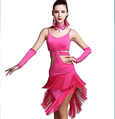 ZHANGQIAN Vestido de Baile Latino para Mujer Adulto Samba ...