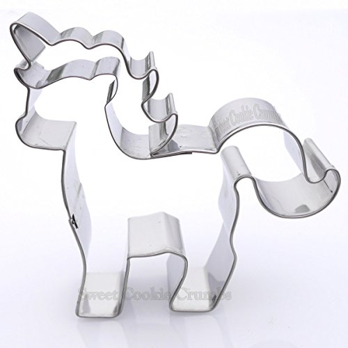 Small Unicorn Cookie Cutter - Stainless Steel]()