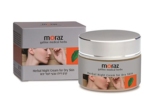Moraz Herbal Night Cream for Dry Skin, 50 ml- Rich in Extracts from Plants & Active Natural Components- Calms & Softens Face & Neck Skin- Anti-Aging - Assists in skin cell regeneration.