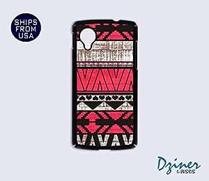 Nexus 5 Case - Aztec Red on Wood Print iPhone Cover