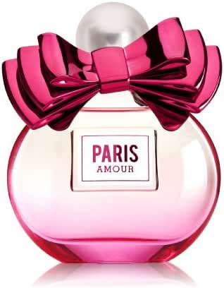 Bath and Body Works Paris Amour Eau De Toilette Special Edition Bottle with Bow 2.5 Ounce Perfume