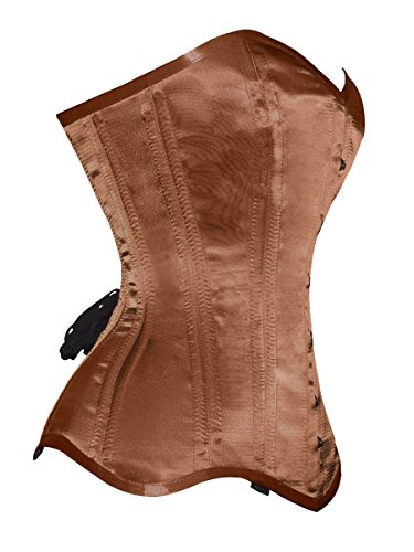 Luvsecretlingerie 22 Double Steel Boned Waist Training Satin Overbust Corset 0cCBzBB