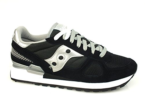 Original Saucony wildleder 671 sneaker low Black Shadow Silver damen 1RRqwf5Px