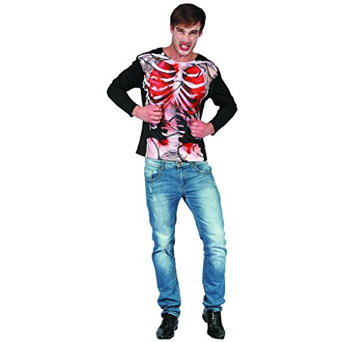 [YOU LOOK UGLY TODAY Quality Men's Party Costume 3D Printed Novelty T-Shirt,Black-Zombie Skeleton] (3d Skeleton Zombie Costumes)