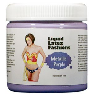 [Metallic Purple Liquid Latex Body Paint in 4 Ounces] (Body Paint Costumes For Halloween)