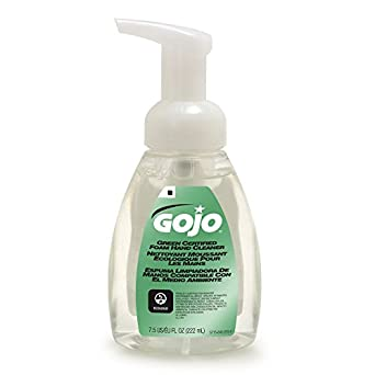 GOJO 571506CT Green Certified Foam Soap, Fragrance-Free, Clear, 7.5 oz. Pump Bottle, Pack of 6