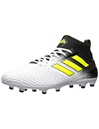 adidas Men's Ace 17.3 Firm Ground Soccer Shoes, Footwear White/Solar Yellow/Core Black