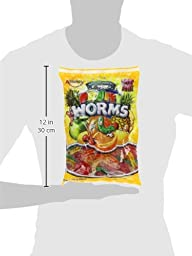 Albanese Candy, Large Assorted Fruit Gummi Worms, 5-pound Bag