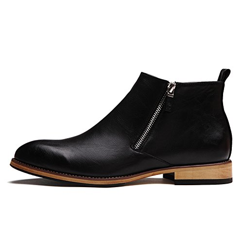 SONLLEIVOO Chelsea Boots Men Leather Waterproof Winter - stylishcombatboots.com
