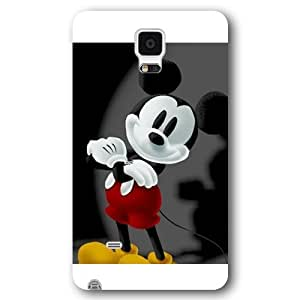 Customized White Hard Plastic Disney Cartoon Mickey Mouse Samsung Galaxy Note 4 Case