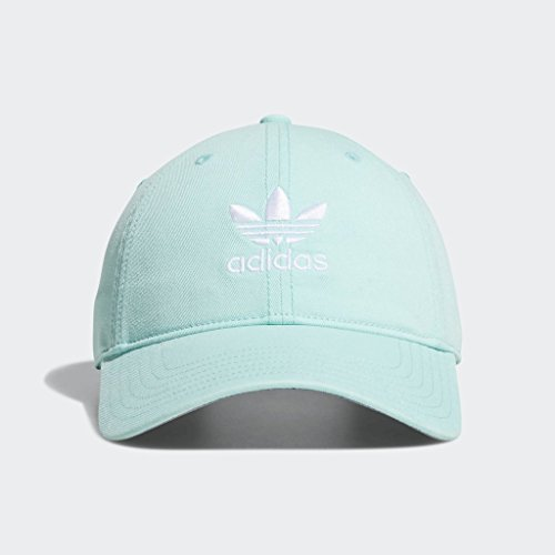 adidas Men's Originals Relaxed Strapback Cap, clear mint green/white, One Size