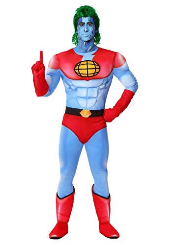 Captain Planet Costume X-Large Blue -