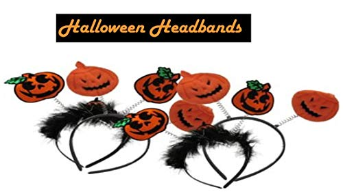 dazzling toys Halloween Pumpkin Design Headbands | 4 Pumpkin Headbands | Halloween Costume