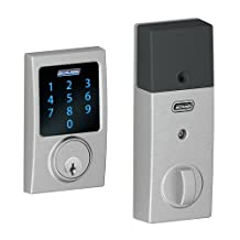 Schlage BE469NXCEN626 Century Touchscreen Deadbolt with Nexia Home Intelligence and Alarm, Satin Chrome, Z-Wave