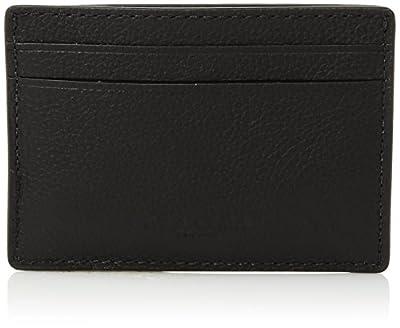 Coach Mens Money Clip Card Case in sport calf leather F75459 Black