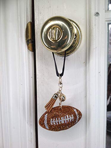 DAYZE Crystal Football Lamp Switch Decoration, Door Knob hanger Decoration, drawer pull decoration, wall hanging, Back Pack Zipper Pull Decoration, Team Support! (Crystal Pull Light)