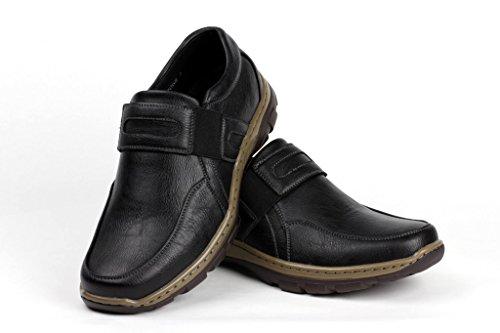 HOMBRE SIN CIERRES Informal Clásico Zapatos de trabajo Elegante Oficina Cómodo Mocasines Negro