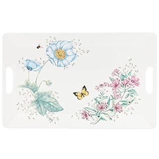 LENOX 855601 Butterfly Meadow Melamine Handled Serving Tray, 1.82 LB, Multi
