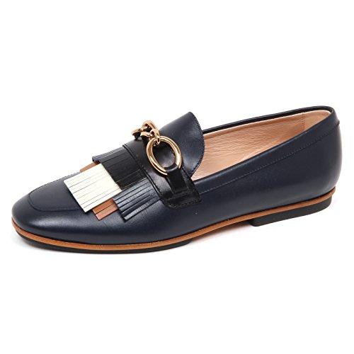 Mocassino Donna Frange E3082 Scarpe Blu Shoe Tod's Loafer Woman 1qwOgF5x
