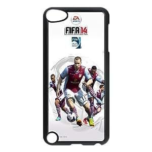 2014 Aston Villa funda de plástico iPod Touch 5 casos funda funda caja del teléfono celular negro cubren ALILIZHIA06854