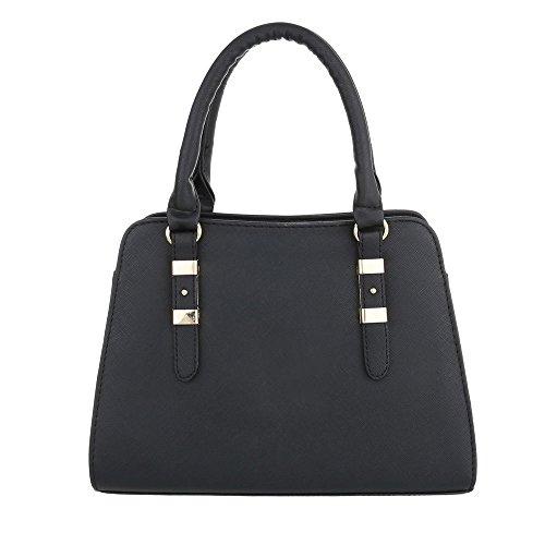 Schuhcity24 Taschen Handtasche Modell Nr.4 Schwarz MqJMn6S