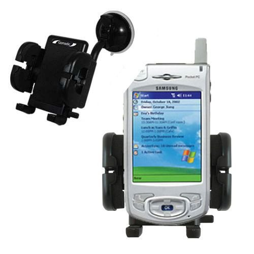 Windshield Vehicle Mount Cradle suitable for the Samsung SPH-i700 - Flexible Gooseneck Holder with Suction Cup for Car / Auto.