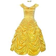ReliBeauty Womens Princess Belle Costume Layered Dress up