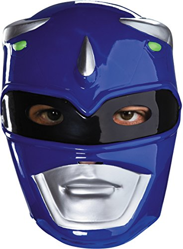 Blue Ranger Vacuform Costume Mask,Blue/Silver/Black,One Size