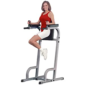 Body Solid Fitness Vertical Knee Raise & Dip Exercise Workout Station | GVKR60