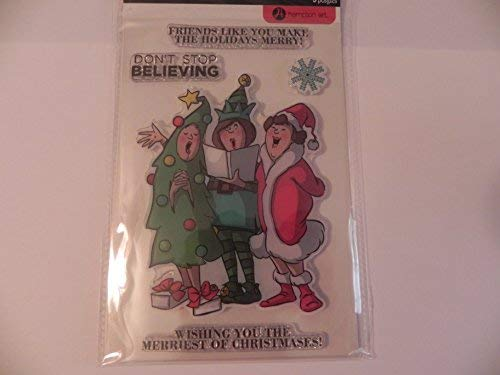 - Art Impressions Unmounted Clear Stamps, Christmas Carolers