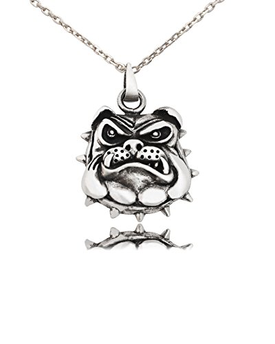 Bulldog Head - Bulldog Head Handmade Pewter Necklace Pendant Jewelry