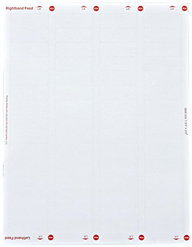 10 Boxes-White Large Return Address, FAB, Labels for Laser/Ink jet Printers, 1 3/4 inch x 2/3 inch, Permanent, 60 Per Sheet, 100 Sheets (60,000 Labels)