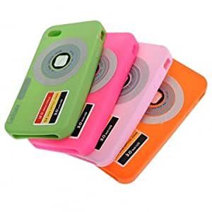 Stylish Digital Camera DC Style Silicone Soft Case Skin for iPhone 4 -*- Color -- Pink