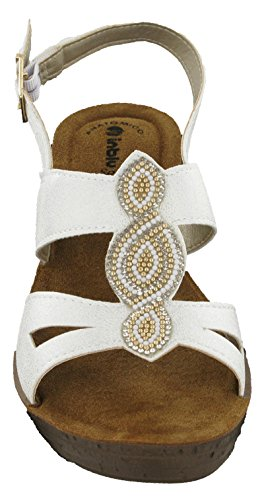 Sandales Cheville White Glamour Gm022 Bride In Blu Femme I5B0xqEEw