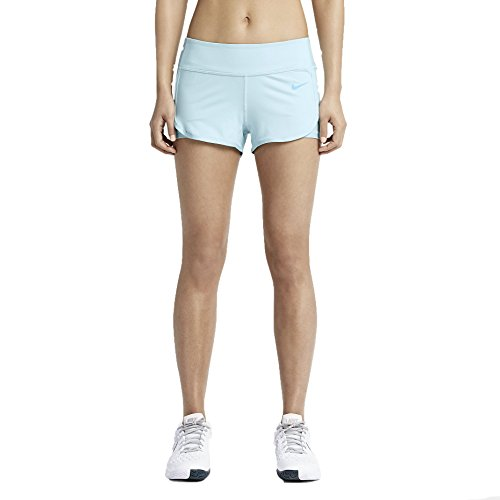 - Nike Women's Dri-Fit Ace Court Tennis Shorts-Light Blue-XL