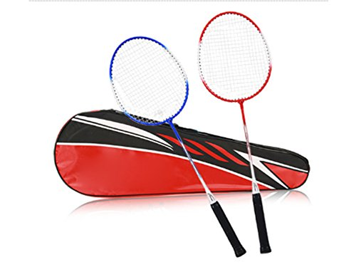 - Outdoor Sports Junior Badminton Racket Iron Alloy Frame Nylon Cable Oval Frame Original Line Hole Toughness Elastic Large Breathable Shock Absorber Handle Slip Wear Ultra Light Wood Handle Is Not Easy