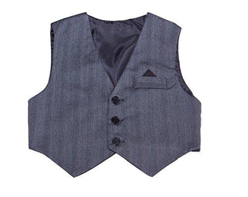 Dark Grey Pinstriped Vest, Baby Boys 6 Month to a Boys 8 (9 MONTH)