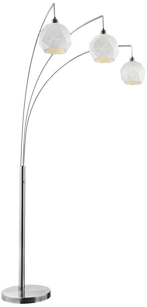 Lite Source Pandora Brushed Nickel 3 Light Arc Floor Lamp Amazoncom