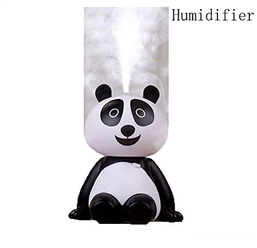 ch Portable Travel Cool Mist Air Humidifiers Facial USB Night Silent Spray Diffuser Desk Car Bedroom Women Personal Cute Mini Steam Evaporative Cleaner Moisture (Adorable Panda) ()