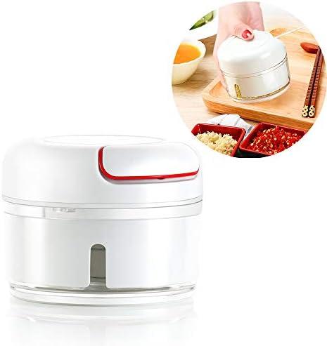 Portátil De Mano Tire Robot De Cocina - Manual De Picar Alimentos para La Carne Nueces Pimienta, Ajo Prensa Grinder Mincer Vegetal, Libre De BPA/Durable: Amazon.es