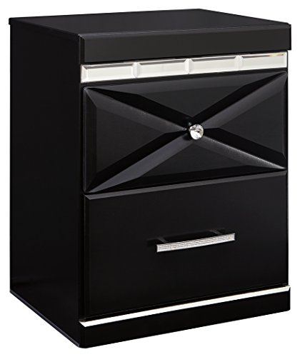 Signature Design by Ashley B348-92 Fancee Nightstand, Black